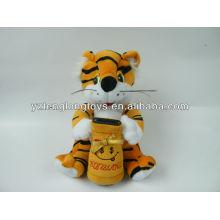 Симпатичные и милые плюшевые плюшевые деньги тигр горшок