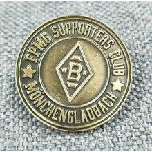 Broche / badge en métal personnalisé en bronze