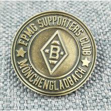 Custom Plain Bronze Metal Logo Pin / Badge