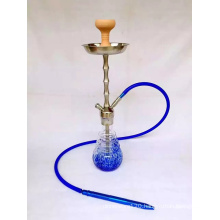Big Hand Blue Colour Made Glass Shisha