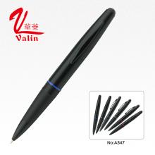 Novo Design preto negócio metal stylus bola caneta na venda