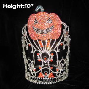 Orange Rhinestones Pumpkins Halloween Pageant Crowns