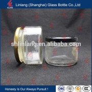280ml round pickles glass bottle for canned food with metal lid