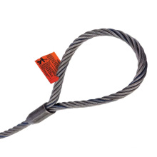 Eslingas de cuerda de alambre empalmadas mecánicamente con cuerpo de una sola pieza