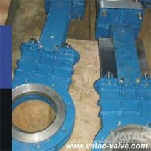 Hnadwheel Cast Steel Wcb/Lcb RF Flanged Knife Gate Valve