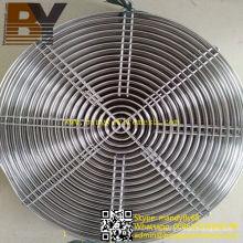 Cubierta de ventilador de ventilador de acero inoxidable
