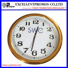 Alta qualidade personalizado logotipo impressão rodada relógio de parede de plástico (item23)