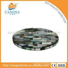 Black MOP copo tapete para decoração de mesa