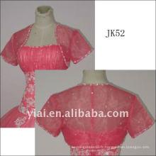 J52 femme veste de mariage en perruque à manches longues