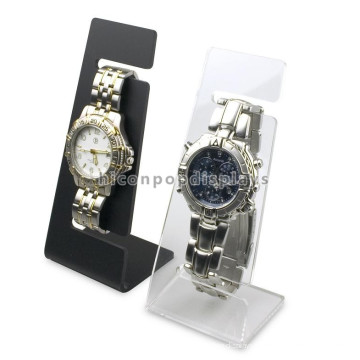 Free Design Custom Größe Einfache Counter Top Hanging Clear Acryl Single Watch Display Stand