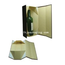 Exquisite Folding Paper Wine Box with Magnet