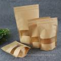 kraft bag coffee nuts packaging bag with window