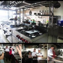 Equipamento de cozinha italiana de luxo de aço inoxidável