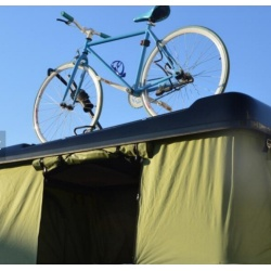 Hard Shell Camper Trailer Rooftop Tent with Rack