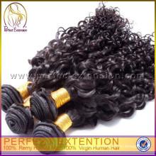 pelo virginal sin procesar de la mejor calidad, pelo virginal brasileño libre de la trama del pelo de la muestra