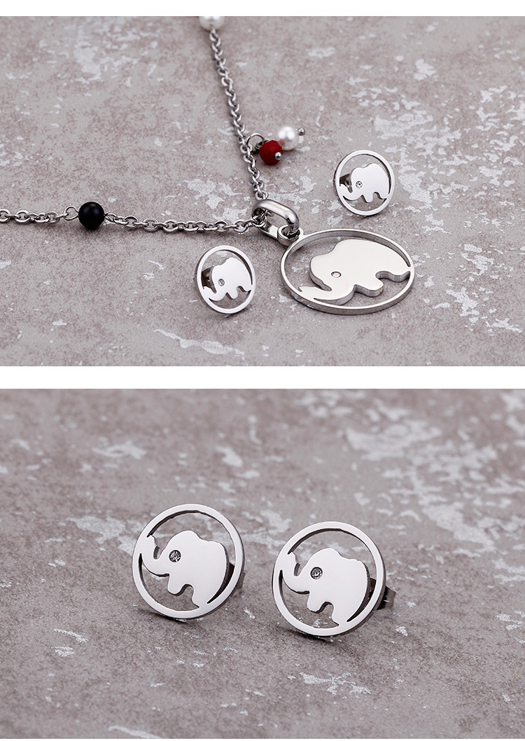 animals elephant jewelry set