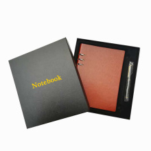 Packaging Box Vendor Wholesale Custom high end gift notebook packaging rigid cardboard paper box with lid for gift pack