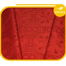 Shine Brocade 100% tela de hilo de algodón Bazin Riche Feitex China fábrica de exportación a africano