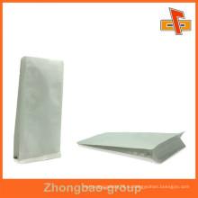 Напечатанная белая бумага Kraft Stand Up Металлизированная VMPET / Al Пленка из фольги с боковыми вставками