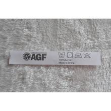 White Ground Black Letters Lavando manchas de etiquetas para vestuário