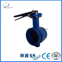 With high quality mini flange ends butterfly valve
