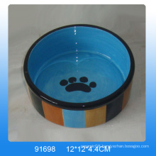 2016 Lovely ceramic pet bowl