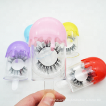 Ice Cream Plastic Eyelash Box Packaging with Private Label For 25mm 5D Mink Lashes Drop Shipping Free Samples 3DLM HAE 3DVM