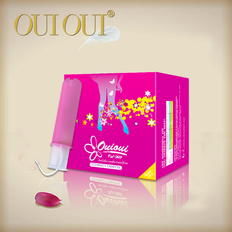 Super absorbent plastic compact tampons for women