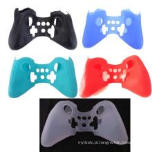 Protetor de corpo completo Capa de silicone macio Capa para Nintendo para controlador Wii U Pro Controlador sem fio do Gamepad