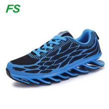 2016 newest brand hotselling Blade outsole sport shoes, Customized flyknit running blade shoes