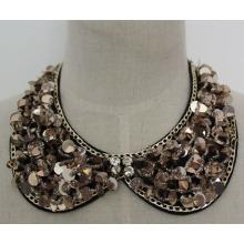 Modeschmuck Pailletten Halskette Kleidungsstück Faux Kragen (JE0058-1)