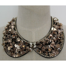 Fashion Jewelry Sequin Necklace Garment Faux Collar (JE0058-1)