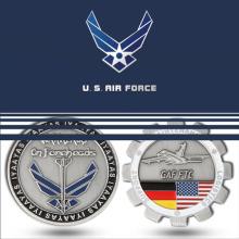 Moeda de desafio do metal da força aérea do costume