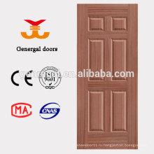 Шесть панели деревянные картины отлитая в форму кожа двери