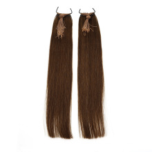Japan Korea Popular Product Hot Selling Real Human Virgin Remy Hair Knot Thread Hair Extensions