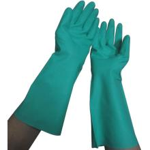Luvas de nitrilo verde químico 15mil