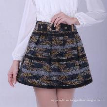 Falda de las mujeres de la falda de las señoras de la alta calidad al por mayor de la línea