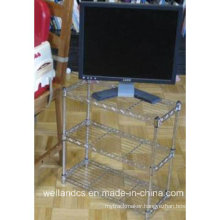 Chrome Living Room Metal Wire Rack (CJ603060C3C)