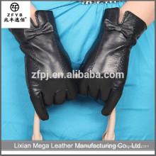 Guantes de cuero baratos de la moda de invierno de moda guantes de cuero