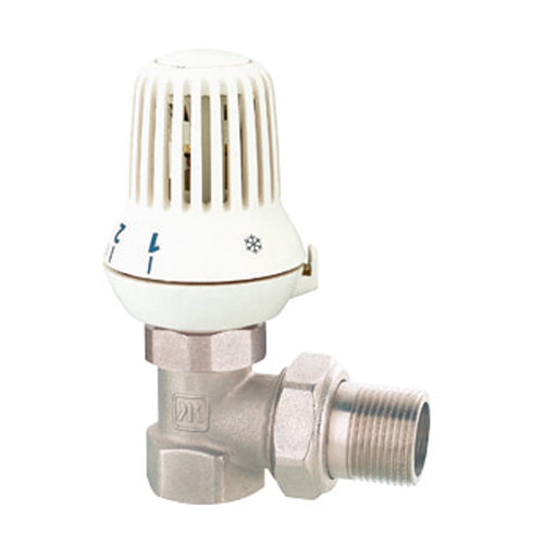 Hand controlled forged brass angle radiator valve