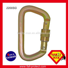 2200SG Steel D Screw Gate Opening Rescue Carabiner