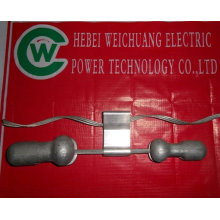 vibration damper/cable clamp for overhead line hardware