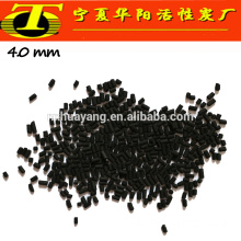 4mm Black arang aktif adsorpsi limbah gas