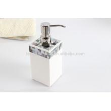 Preto shell mosaico hotel guestroom artigo líquido soap dispenser pump