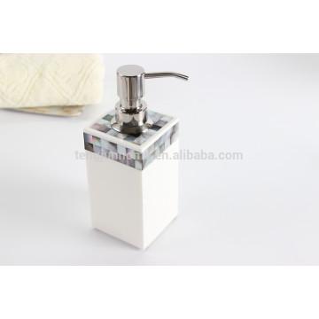 Schwarze Schale Mosaik Hotel Zimmer Artikel Flüssigkeit Seife Spender Pumpe