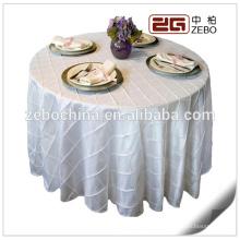 100% poliéster simples tecido personalizado 120 toalha de mesa branca redonda