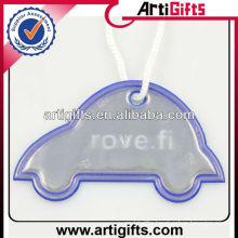 Car shape reflective key chain with custom logo
