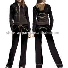 ropa de terciopelo trajes de diseño uniforme de ropa deportiva para mujeres
