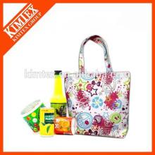 Gedruckte benutzerdefinierte Logo Floding Einkaufen Mittagessen Tasche