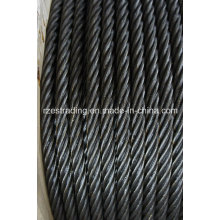 6*36ws+FC Ungalvanized Steel Wire Rope for Mining
